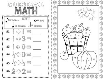 Music Coloring Pages (Fall)