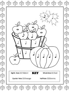 Music Coloring Pages 16 Fall Music