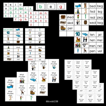 CVC short e - engaging activities for small group or whole group
