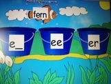 e, ee, er word sort Flipchart