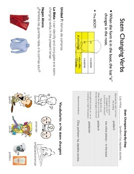 e-ie Stem Changing Verb Set: 3 lessons, activities, and a