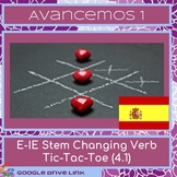 e-ie Stem Changing Verb Tic-Tac-Toe (for Avancemos 1 4.1)