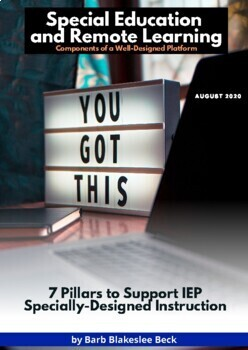 eBook:  Special Education and Remote Learning - 7 Pillars to Support SDI/Service