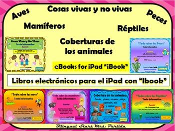 eBooks y QR Codes Textos paraRéptiles-Mamíferos-Aves-Peces