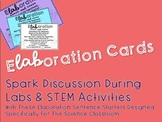 eLABoration cards - Science Sentence Starters