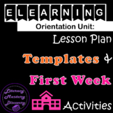 eLearning: Lesson  Plan  Template &  First Day(s) Activiti