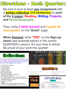ePortolios (Electronic Portfolios) Students Reflect on BEST work (EDITABLE link)