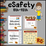 eSafety Activity, Interactive Puzzles & Games Bundle Grade 8-12