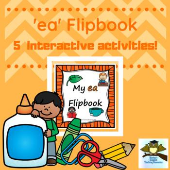 'ea' Flipbook ~ 5 centre activities in the one flipbook!