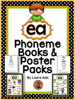 ea Phonogram Books & Poster Packs with Phonics Practice Pages