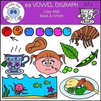 ea Vowel Digraph Clip Art
