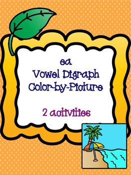 ea Vowel Digraph Color-by-Picture