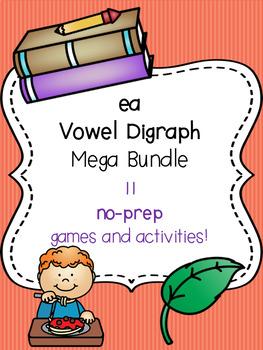 ea Vowel Digraph Mega Bundle! [11 no-prep games and activities]