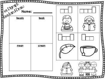 ea Vowel Digraph Read-and-Draw