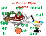 ea Vowel Team- Visual Aide:  Dinner Plate Words