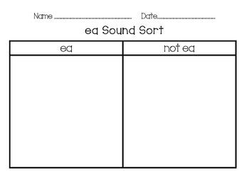 ea Word Work Packet