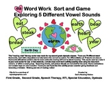 ea Word Work Sort and Earth Day Game      Exploring 5 Different Vowel Sounds
