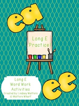 ea and ee long vowel activities