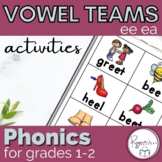Long e  ee ea Word Work Activites and an assessment