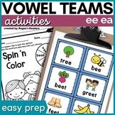 Vowel Teams - ee and ea