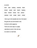 ea words and sentences