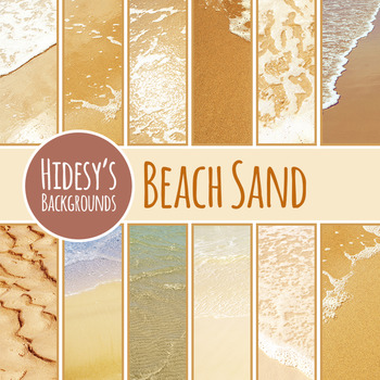 Beach Sand Digital Paper Photographic Backgrounds Clip Art Commercial Use