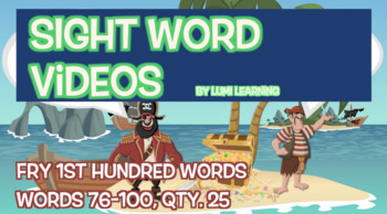 Fry 1st 100, Sight Word Videos #76-100: Teach Spelling, Meaning, Usage, & More