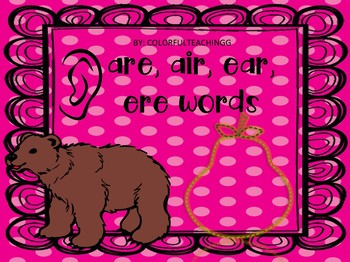 ear, air, ere words