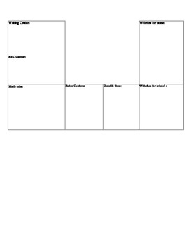 early childhood theme planner pages