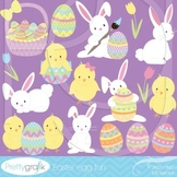 easter bunny clipart commercial use, vector graphics, digital clip art - CL506