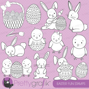 easter bunny stamp commercial use, vector graphics, images - DS506