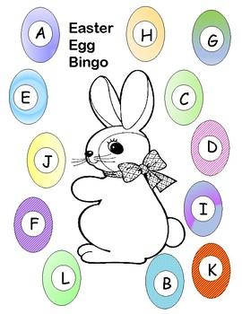 easter egg bingo letter recognition