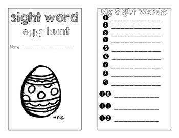 easter egg sight word hunt