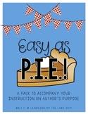 easy as pie!! {author's purpose activities}