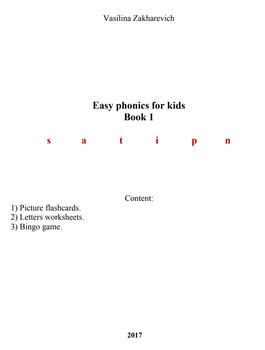 easy phonics for pre-school