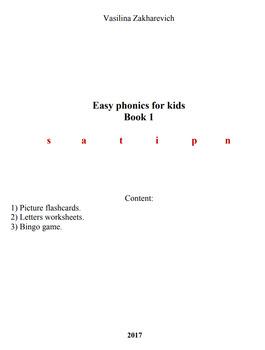 easy phonics for pre-school