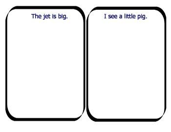 easy sentences to read/illustrate