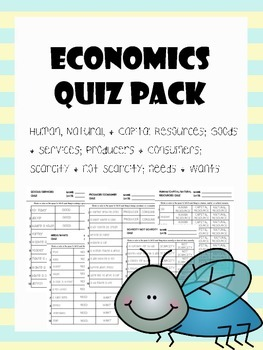 economics quiz pack