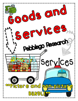 economics: goods and services {PEBBLEGO RESEARCH}[picture