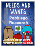 economics: needs and wants {pebblego research} [picture and non-picture BUNDLE]