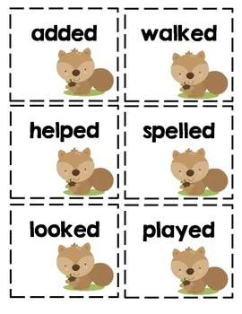 /ed/ Ending Word Cards