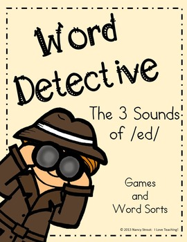 Word Detective ~ ed Suffix Activities