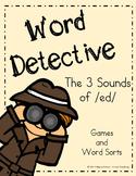 Word Detective ~ ed Suffix Activities