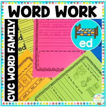 'ed' Word Family Word Work