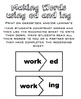 ed and ing Suffix Literacy Center Packet UPDATED!