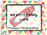 """ed""  word family work"