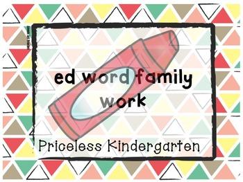 """ed""  word family work"