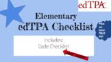 edTPA Checklist (MUST HAVE)