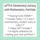 edTPA: Complete Elementary Literacy w/Mathematics Portfolio - Passed with Scores