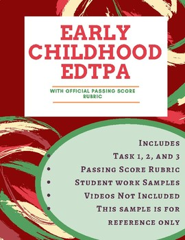 edTPA- Early Childhood Education Passed with Scores